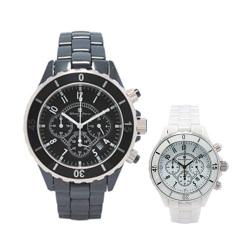 Salvatore Marra サルバトーレマーラ クロノグラフ メンズ腕時計 SM11137☆高級感漂うメンズウォッチ!キズがつきにくいセラミック素材!の画像