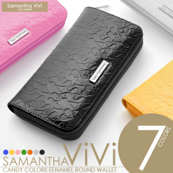 Samantha ViVi イニシャルロゴ型押しラウンド財布 SV-603☆イニシャルがプレスされたCUTEなラウンドタイプの長財布の画像