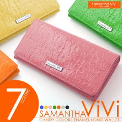Samantha ViViイニシャルロゴ型押し長財布SV-601☆トレンド感・華やかさに溢れるCUTEなレディース長財布の画像
