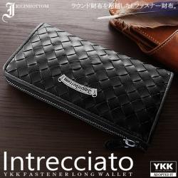イギンボトムメタルプレート牛革イントレチャートLファスナー長財布IG-3002☆牛革の素材感が魅力のLファスナーウォレットの画像