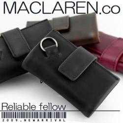 MACLAREN.COソフトレザーマルチキーケースMC-0604☆手触りの良いソフトレザーで手になじみやすくシンプルなデザインの画像