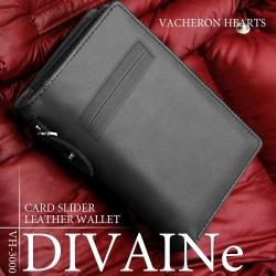 ヴァセロンハーツ カードスライドポケット付 牛革製短財布 VH-3000☆カードスライドポケット付きの牛革製メンズ短財布の画像