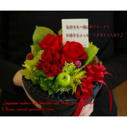 プリザーブドフワラー Japanese modern 優美☆ギフトに最適ト♪優しい印象の本格派プリザーブドアレンジメンの画像