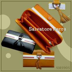 サルバトーレマーラ ラウンド長財布 SM5905☆デキる!大人女性の手元を飾る、カジュアルタッスル付の長財布。の画像