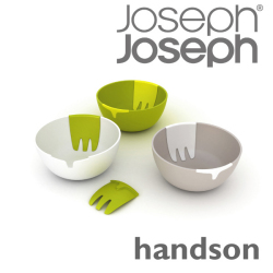 JosephJoseph ジョゼフジョゼフ handson ハンズオン☆サラダサーバーと一体化した、ユニークなデザインのサラダボウルの画像