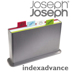 JosephJoseph ジョゼフジョゼフ indexadvance インデックスアドバンス☆インデックス機能の付いたまな板!滑り止め付き!の画像
