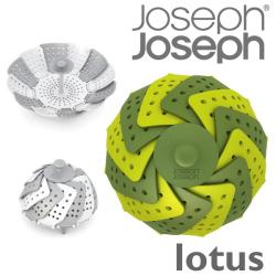 JosephJoseph ジョゼフジョゼフ lotus ロータス☆カラフルなデザインの折りたたみ式の蒸し器!の画像