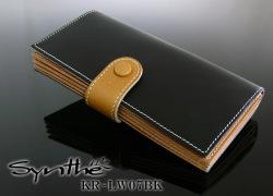 SyntheKR-LW07BK ブックタイプロングウォレット(長財布) メンズ財布☆重厚で高級感抜群の長財布の画像