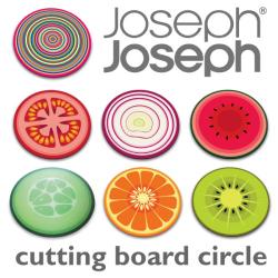 JosephJoseph ジョセフジョセフ カッティングボード 丸形☆用途色々!耐熱強化ガラス使用のお洒落なカッティングボード!の画像