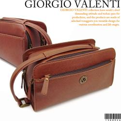 ≪完売≫GIORGIO VALENTI ジョルジオ バレンチノ ダブルファスナーセカンドバッグ 1500926☆多機能でありながらデザイン性も重視
