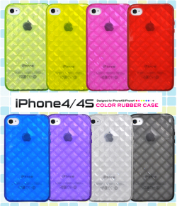 iPhone4・iPhone4S専用カラーモザイクラバーケース(ip4-2080) スマホケース☆iPhone4/iPhone4S(SoftBank・au)対応ケースの画像
