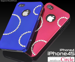 iPhone4S・iPhone4用デコメタリックケース(サークルタイプ)ip4-4052 スマホケース☆iPhone4/iPhone4S(SoftBank・au)対応ケースの画像