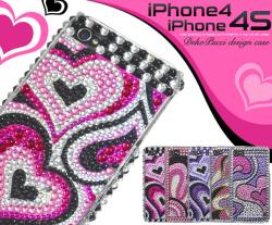iPhone4・iPhone4S用プッチ柄デコケース(ip4-5001) スマホケース☆iPhone4/iPhone4S(SoftBank・au)対応ケースの画像