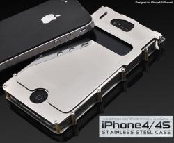 iPhone4S・iPhone4用ステンレスハード(ip4-5006) スマホケース☆iPhone4/iPhone4S(SoftBank・au)対応ケースの画像