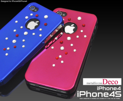 iPhone4S・iPhone4用デコメタリックケース(ip4-4056) スマホケース☆iPhone4/iPhone4S(SoftBank・au)対応ケースの画像