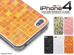 iPhone4専用メタリックケースモザイクデザイン(ip4-3191) スマホケース☆iPhone4(SoftBank)対応ケースの画像