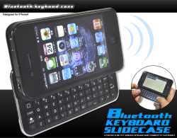 スライド式Bluetoothキーボード付きiPhone4ケース(wm-535) スマホケース☆iPhone4(SoftBank)対応ケースの画像