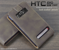 HTC EVO WiMAX ISW11HT用ソフトレザーケースポーチ(wm-651db)スマホケース☆au HTC EVO WiMAX ISW11HT対応スマホケースの画像