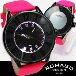 ROMAGO(ロマゴ)ミラー文字盤・ビッグフェイス腕時計AC-W-RM007-0053ST-LU【送料無料】☆独創的なギミックを施した気鋭スイス発ブランド!の画像