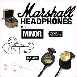 ≪完売≫Marshall MINOR インナーイヤー型ヘッドフォン☆ヘッドホンで音がかわる。進化した高性能インイヤー型が登場!