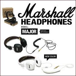 《完売》Marshall MAJOR 密閉ダイナミック型ヘッドフォン【送料無料】☆ヘッドホンで音がかわる。特許技術で完璧なフィットを実現!