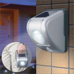 手巻発電機能付きソーラーセンサーライト【カタログ掲載】非常用ライトの画像