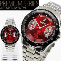 自動巻バックスケルトン腕時計AC-W-BCG5REDST【レッド】☆大振りサイズのフェイスでインパクト大な仕上がり!の画像
