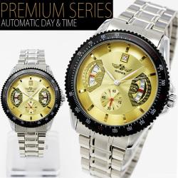 自動巻バックスケルトン腕時計AC-W-BCG5YEST【イエロー】☆シンプルながらインパクト大なビッグフェイスの画像