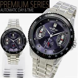 自動巻バックスケルトン腕時計AC-W-BCG5BLST【ブルー】☆大振りサイズのフェイスでインパクト大の画像