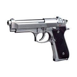 ハイグレード M92Fミリタリーモデル ステンレス エアーハンドガン☆6mmBB弾使用 エアガンの画像
