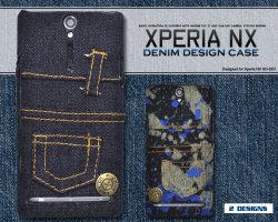Xperia NX SO-02D用 デニムデザインケース dso02d-08☆docomoエクスペリアNX専用スマホケース スマホカバーの画像