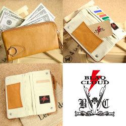 BLAQ CLOUD(ブラック クラウド)ソフトレザーデュアルファスナーロングウォレット XBC-010028☆日本製ソフト牛革を使用したメンズ長財布の画像