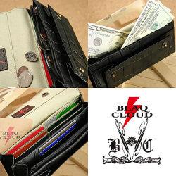 BLAQ CLOUD(ブラック クラウド)クロコ型押しロングウォレット XBC-010068☆日本製ソフト牛革クロコダイル型押しメンズ長財布の画像