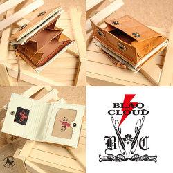 BLAQ CLOUD(ブラック クラウド)クロコ型押しショートウォレット XBC-010078☆日本製ソフト牛革クロコダイル型押しメンズ短財布の画像