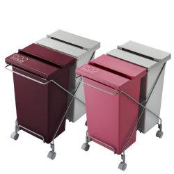 コンテナスタイル 42L CS2-40 MX/MX2☆横型タイプの2列式分別ゴミ箱の画像