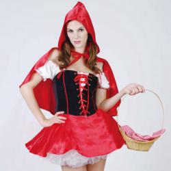 赤ずきん RED RIDING HOOD(PW-20579S)☆ハロウィンコスプレ ハロウィンパーティーコスチュームの画像