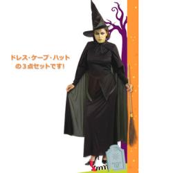 15478ウィキッドウィッチ(魔女)PW-18474S【送料無料】☆ハロウィンコスプレ ハロウィンパーティーコスチュームの画像