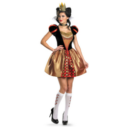 アリス・イン・ワンダーランド 赤の女王送料無料】☆ハロウィンコスプレ パーティーコスチューム(ディズニー)の画像