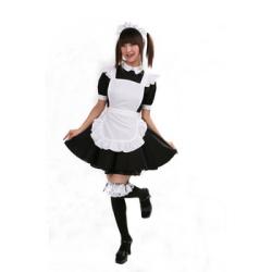 リズカフェ (黒/メンズ)  PW-33185S ☆イベントやパーティーに!男性用女装コスチュームの画像