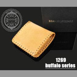 BEAMZ SQUARE バッファローレザー ショートウォレット(bs-1269)☆バッファローの素材感を生かしたワイルドでハードな短財布の画像