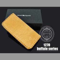 BEAMZ SQUARE バッファローレザー ロングウォレット(bs-1270)☆バッファローの素材感を生かしたワイルドでハードな長財布の画像
