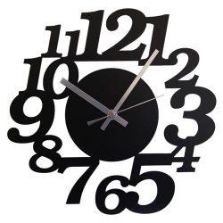 壁掛け時計 鋼の匠 イタリティック 黒(208793)☆技と感性がつくる、鋼製インテリア時計の画像