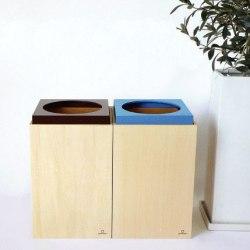 ha n ko(ダストボックス ハンコ)☆キュートなシルエットの木製ゴミ箱!の画像