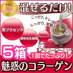 魅惑のコラーゲン 5箱セット 30包×5☆無味・無臭で手軽に摂れる!コラーゲンを作り出す力!贅沢に配合【送料無料】の画像