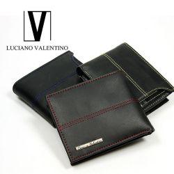 LUCIANO VALENTINO カラーステッチ IDスライダー二つ折り☆カードスライダー機能を搭載!メンズ二つ折り財布の画像