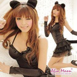 黒猫ちゃんコスチューム豪華5点セット f116☆イベントやパーティーに!セクシーコスプレ♪の画像