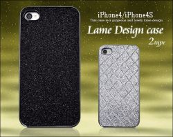 iPhone4/iPhone4S用上品ラメデザインケースip4s-3044☆iPhone4・iPhone4S専用スマホケース・スマホカバーの画像