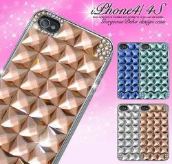 iPhone4/iPhone4S用ゴージャスデコケースip4s-5027☆iPhone4・iPhone4S専用スマホケース・スマホカバーの画像