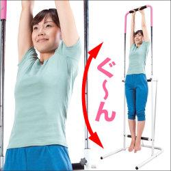 背筋まっすぐ健康器☆ぶら下がるだけで背筋スッキリ!きれいな姿勢をサポート!【カタログ2012冬】