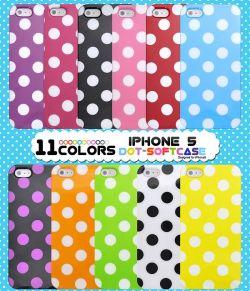 iPhone5専用 カラードットソフトケース ip5-3001☆iPhone5用スマホケース スマホカバーの画像